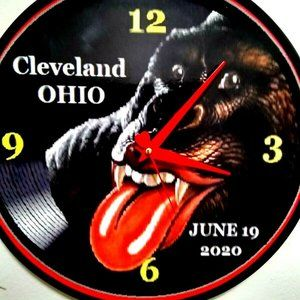 ROLLING STONES - CLEVELAND 2020 - 12IN WALL CLOCK